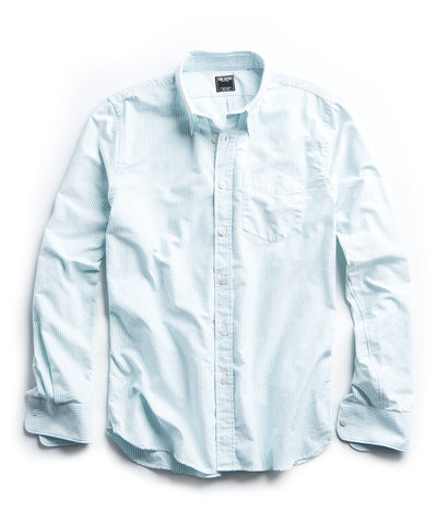 Stripe Oxford Button Down in Green