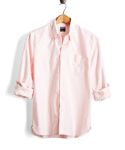 Stripe Oxford Shirt in Pink