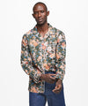 Exclusive Liberty of London Camp Collar Floral Shirt in Green