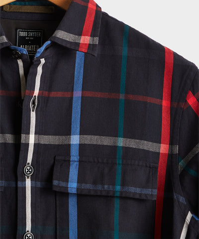 Multi Color Check Shirt Jacket
