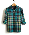 Vintage Plaid Shirt Jacket in Green