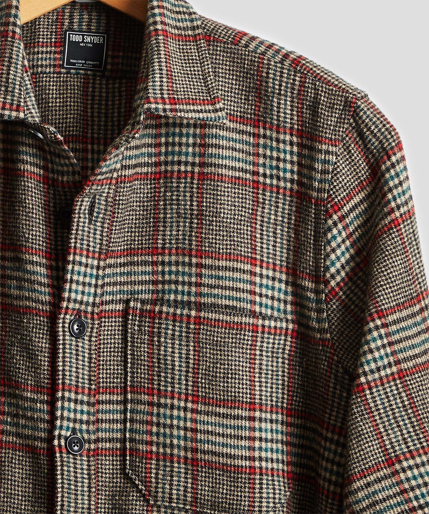 Wool Glen Plaid Shirt Jacket