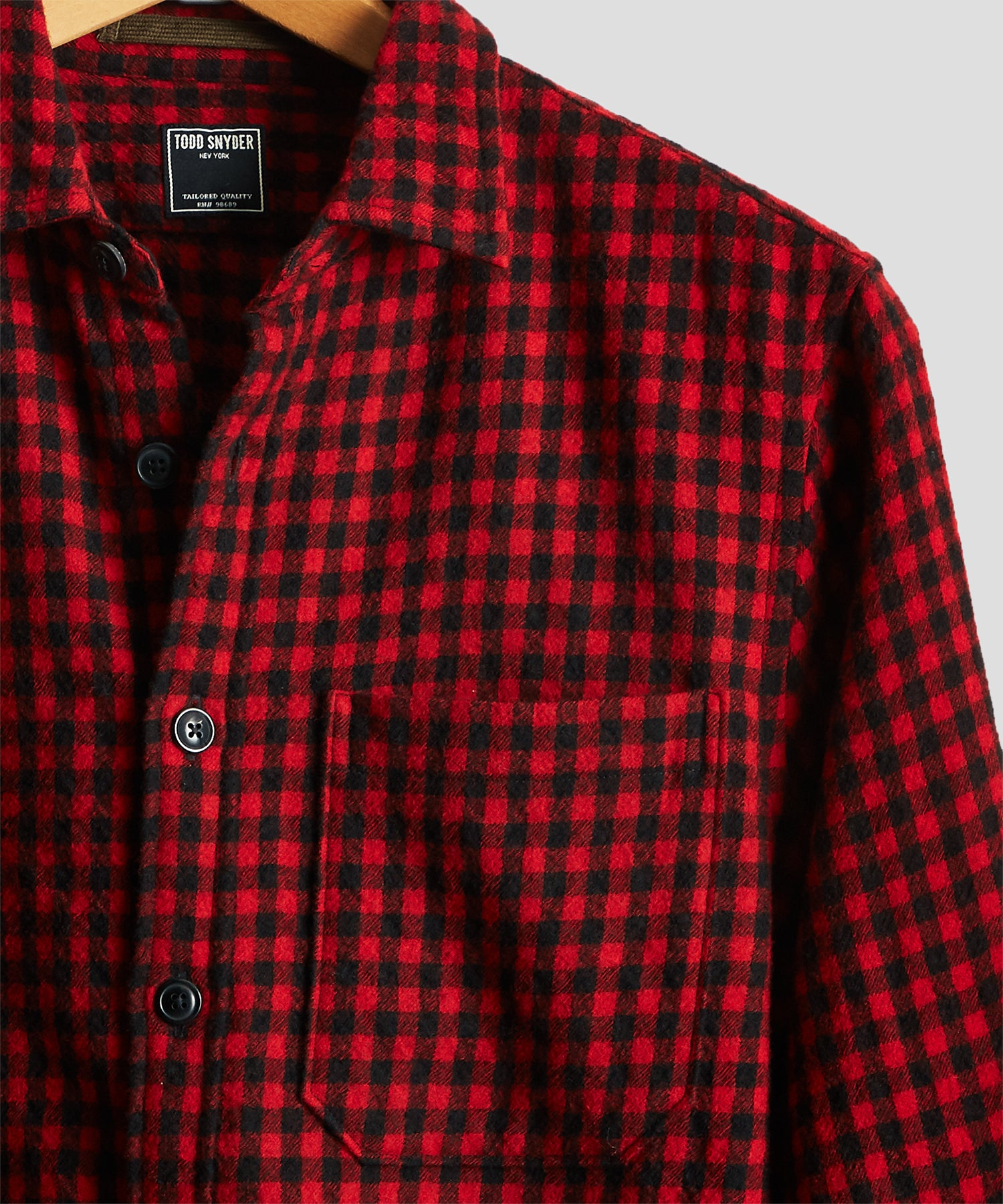 Red Buffalo Wool Shirt Jacket