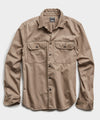 Italian Two Pocket Utility Long Sleeve Shirt in Mushroom