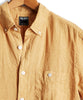 Short Sleeve Linen Button Down Shirt in Yellow Alternate Image