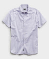 Saint Tropez Button Collar Short Sleeve Shirt in Light Lilac