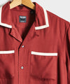 Tipped Bowling Shirt in Maroon