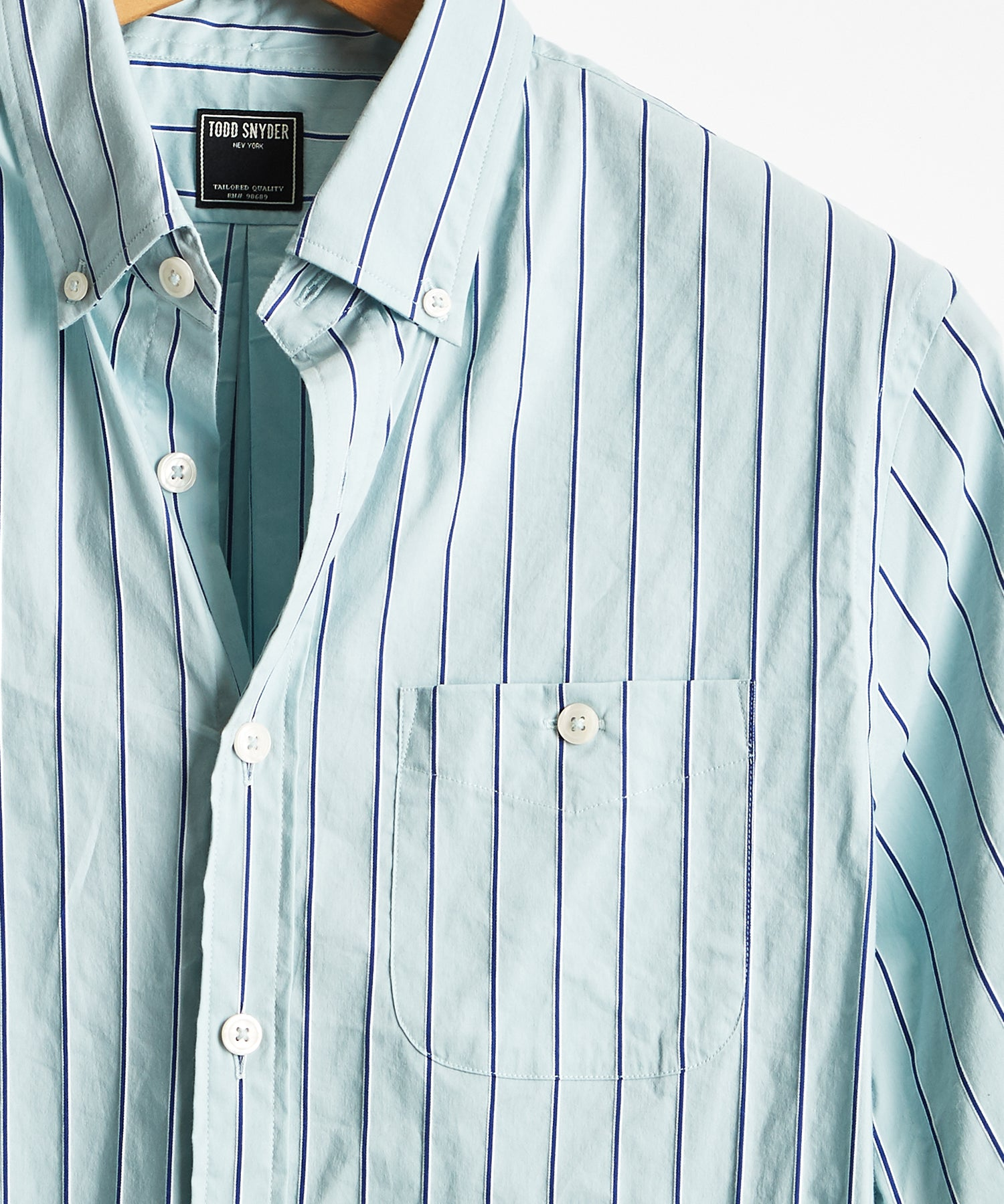 Micro Stripe Button Down Shirt in Mint