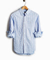 Micro Stripe Button Down Shirt in Light Blue
