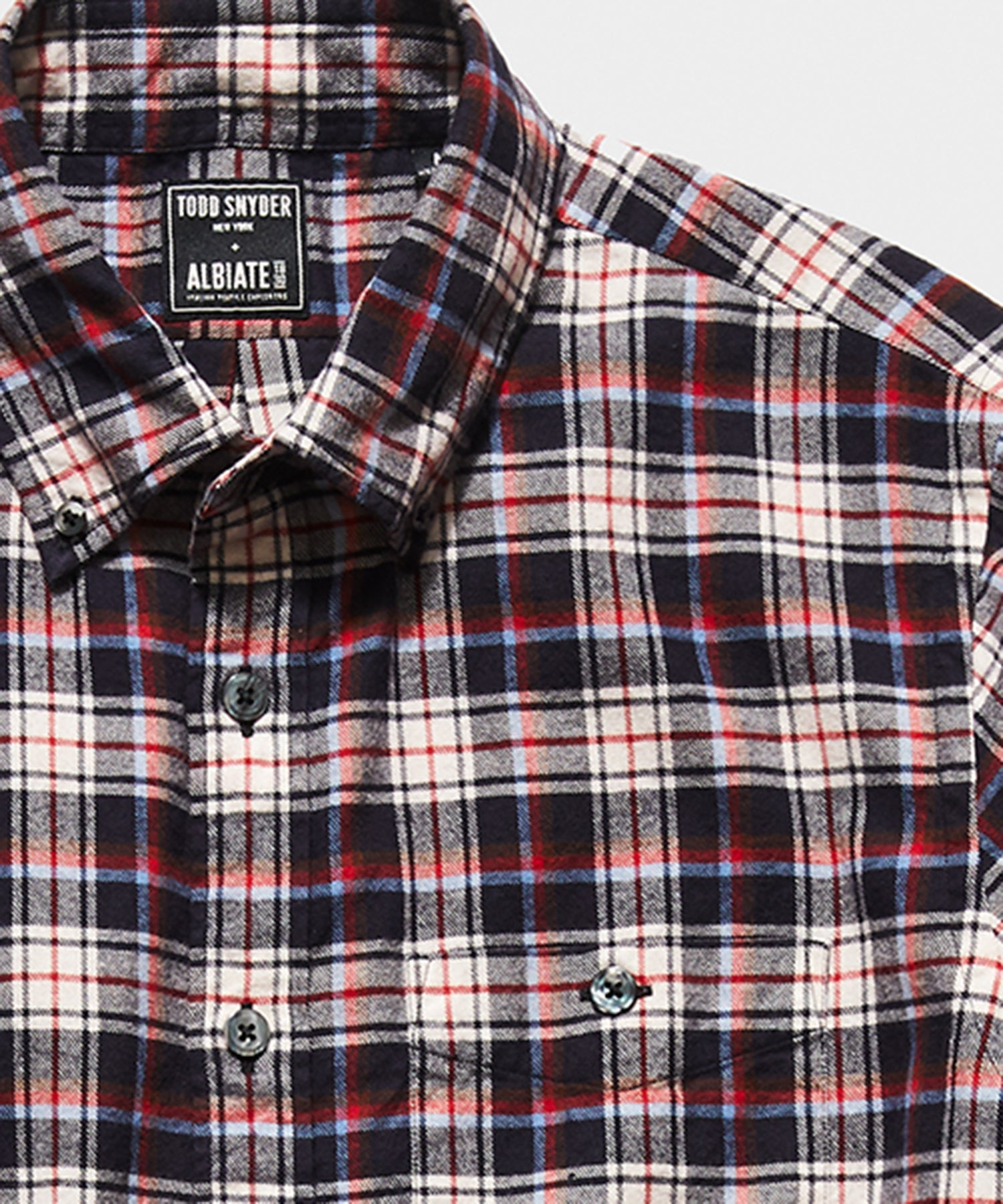 Italian Red Tartan Flannel Button Down Shirt