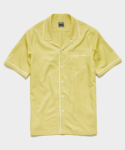 Japanese Tipped Rayon Shirt in Sol