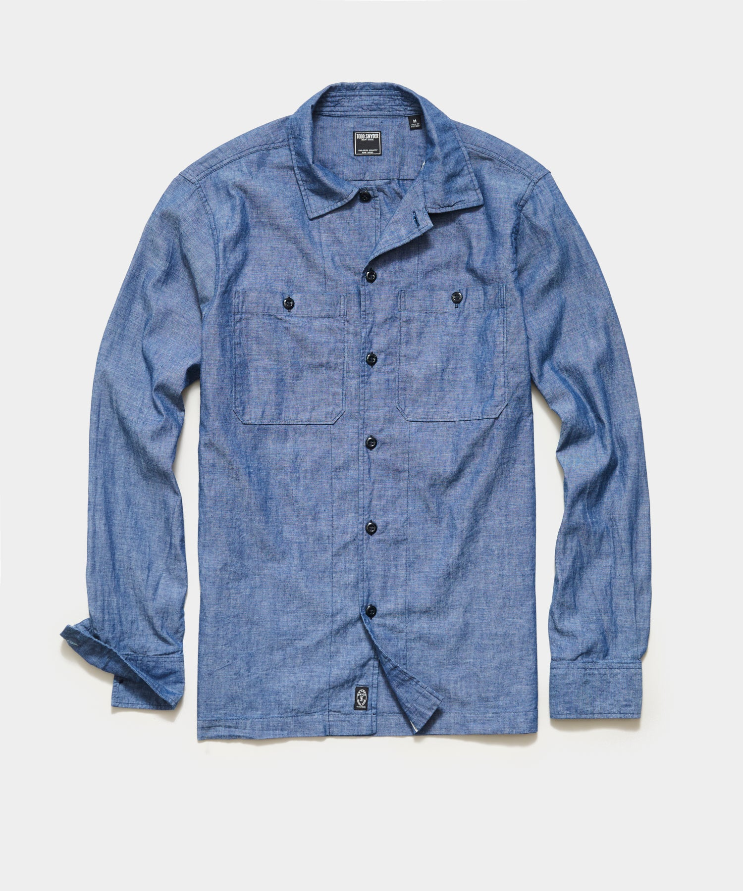 Japanese Selvedge Chambray Recruit Shirt in Indigo