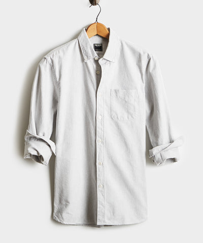 Japanese Selvedge Oxford Button Down Shirt in Grey