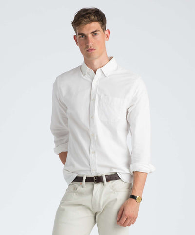 Japanese Selvedge Oxford Shirt in White
