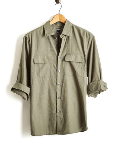 Lightweight Italian Military Shirt in Sage
