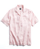 Short Sleeve Linen Camp Collar Shirt in Pink Alternate Image