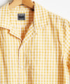 Micro Gingham Short Sleeve Shirt in Yellow