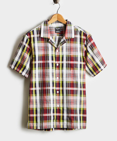 Madras Camp Collar Short Sleeve Shirt