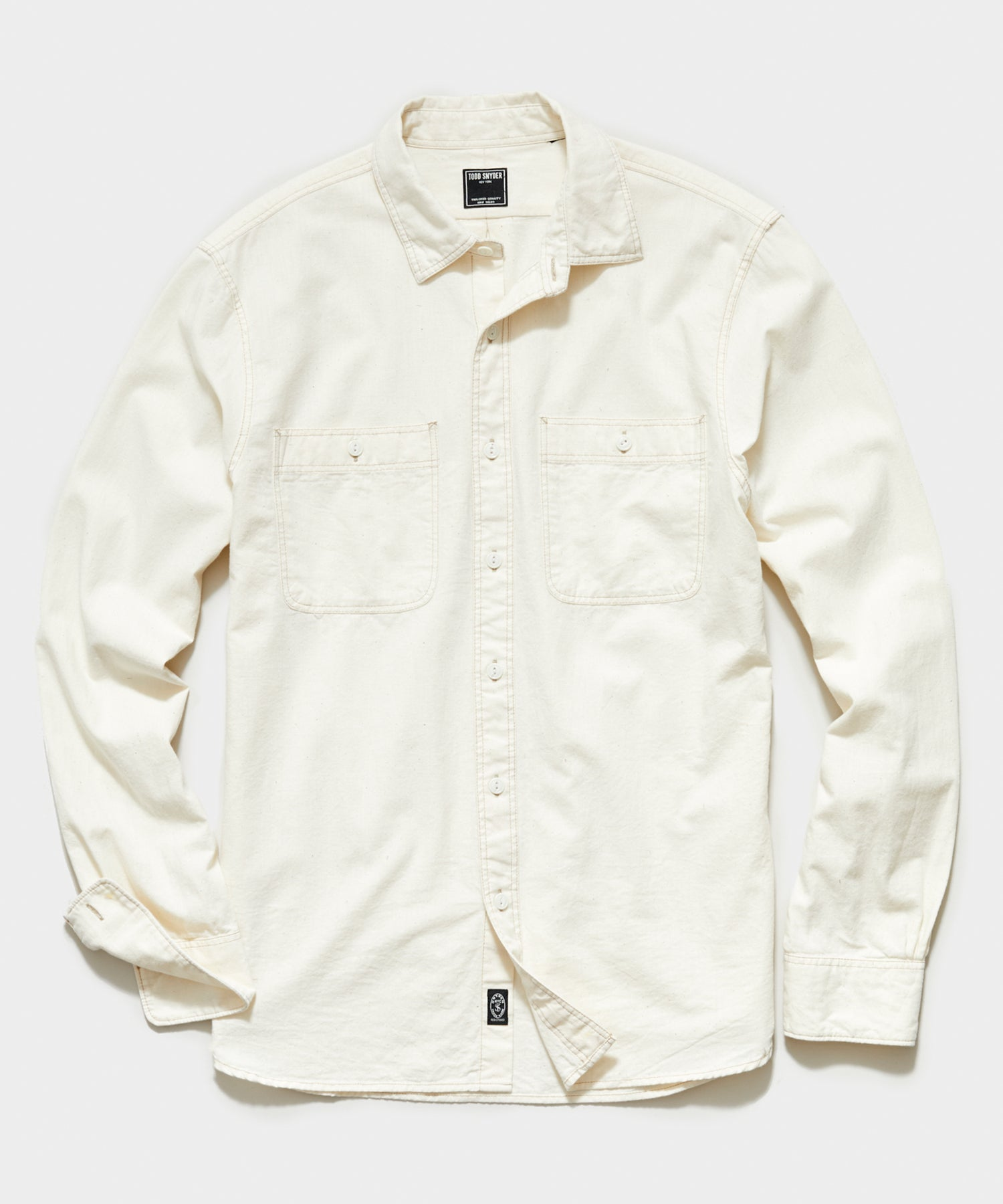 Japanese Off White Chambray Work Shirt