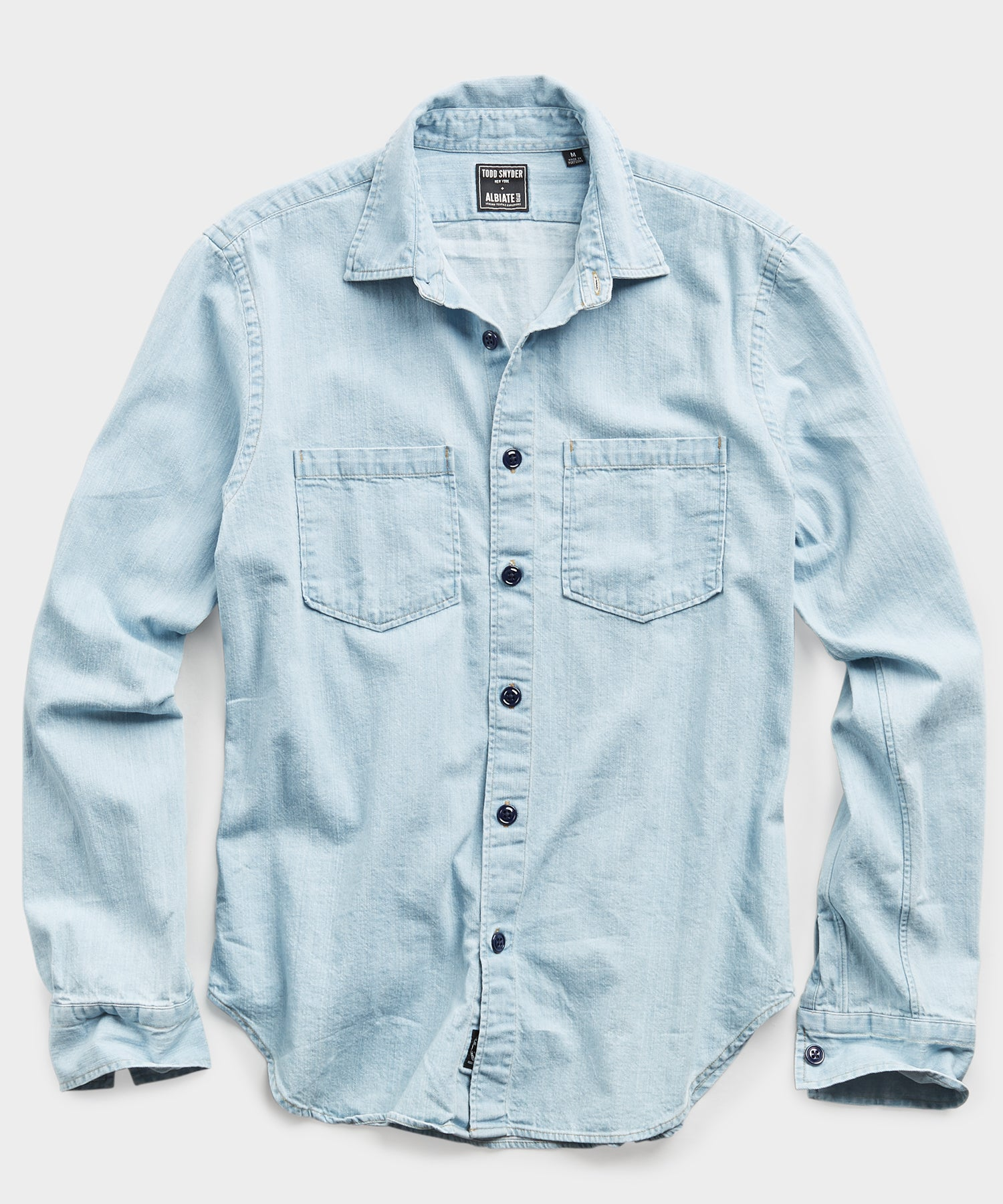 Bleach Denim Overshirt in Light Indigo