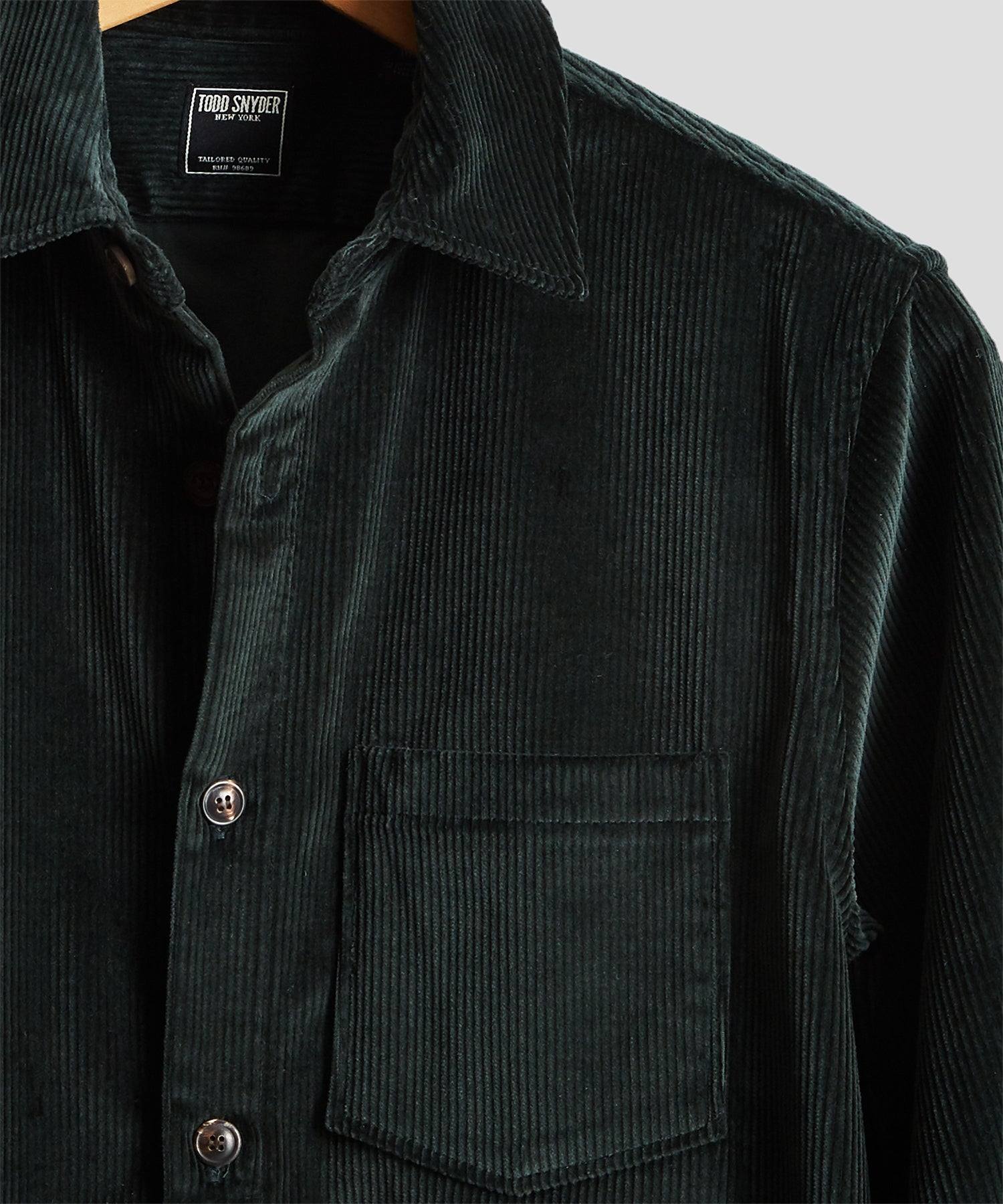 Made in New York Corduroy Shirt Jacket in Emerald