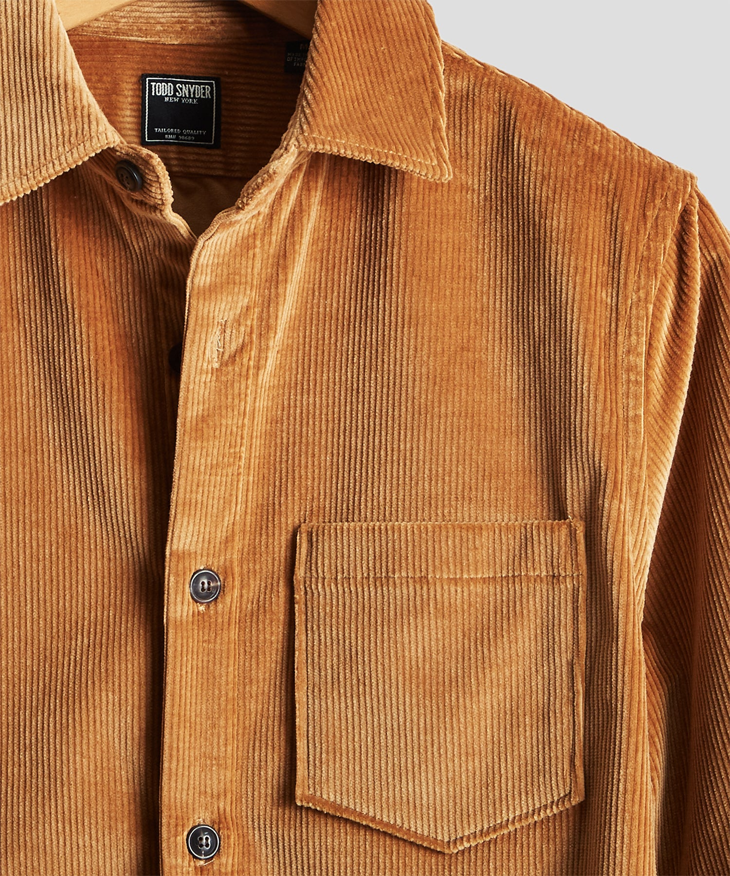 Made in New York Corduroy Shirt Jacket in Mocha