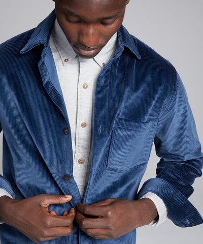 Made in New York Corduroy Shirt Jacket in Blue