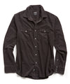 Micro Corduroy Western Shirt in Black