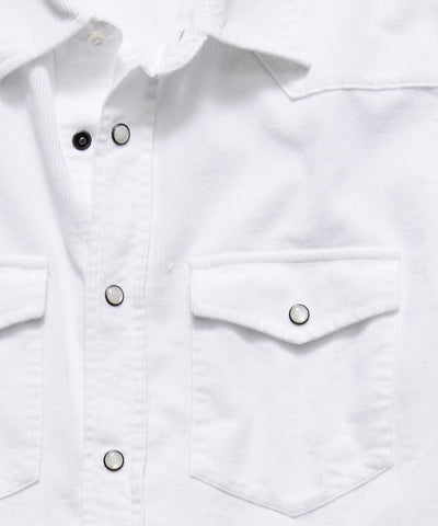 Micro Corduroy Western Shirt in White