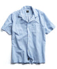 Short Sleeve Two Pocket Camp Collar Blue Stripe Shirt Alternate Image