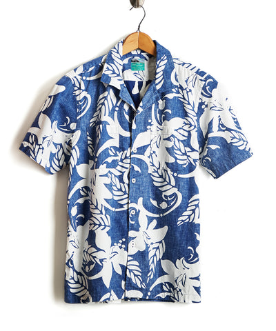 Exclusive Reyn Spooner + Todd Snyder Short Sleeve Shirt in Blue Floral