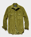 TS x Drake's Corduroy Workshirt in Olive