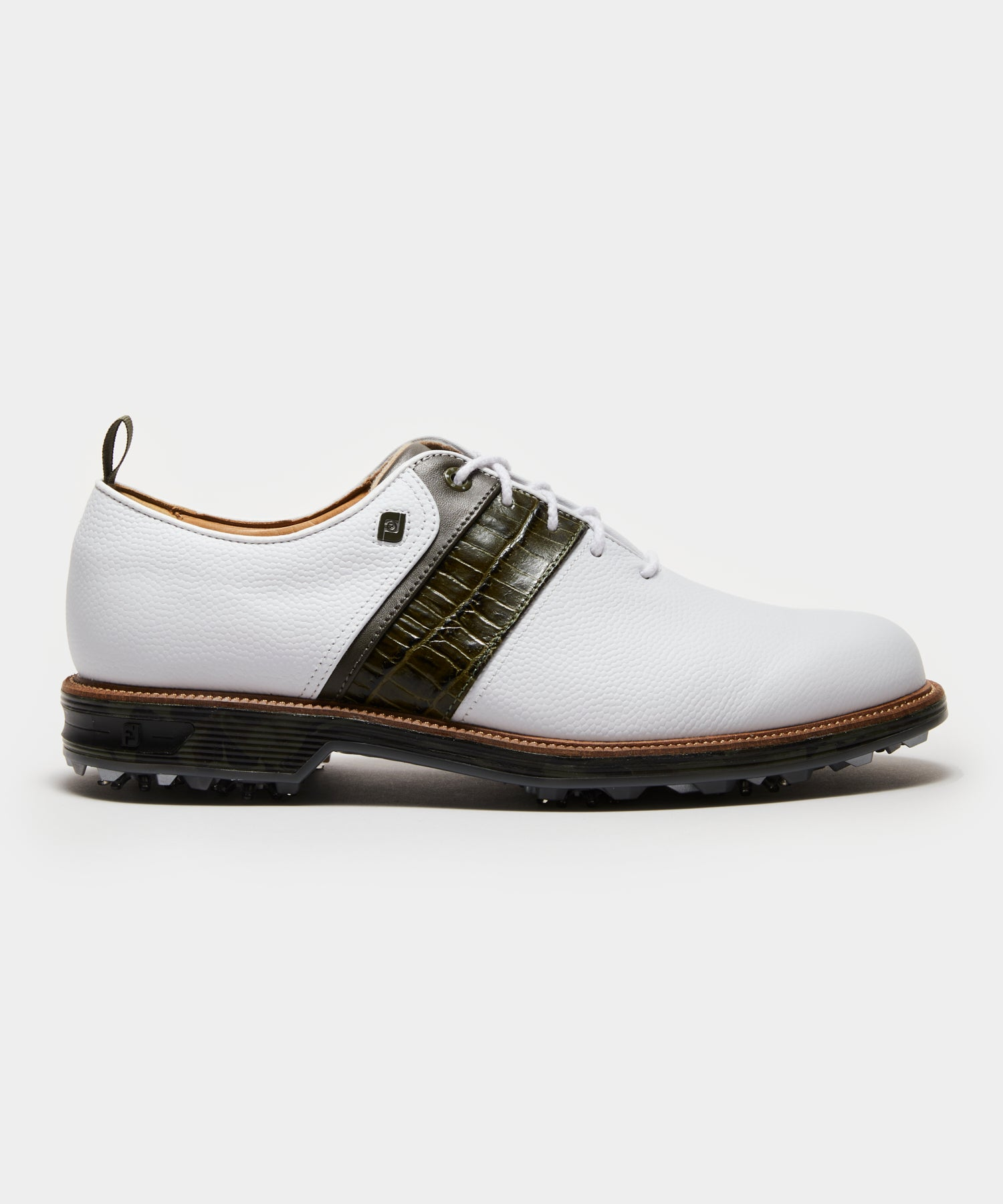 Footjoy x Todd Snyder Packard Golf Shoe in White/Olive