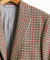 Red and Brown Check Sutton Suit Jacket