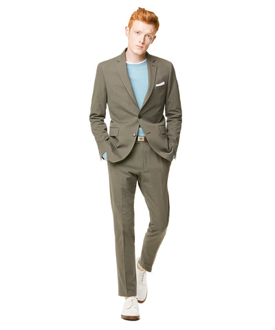 Seersucker Sutton Suit Jacket in Olive