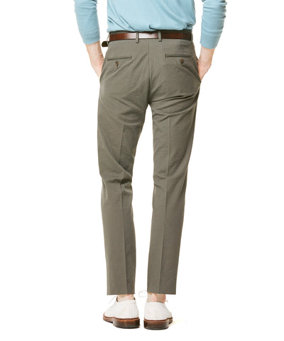Seersucker Sutton Suit Trouser in Olive