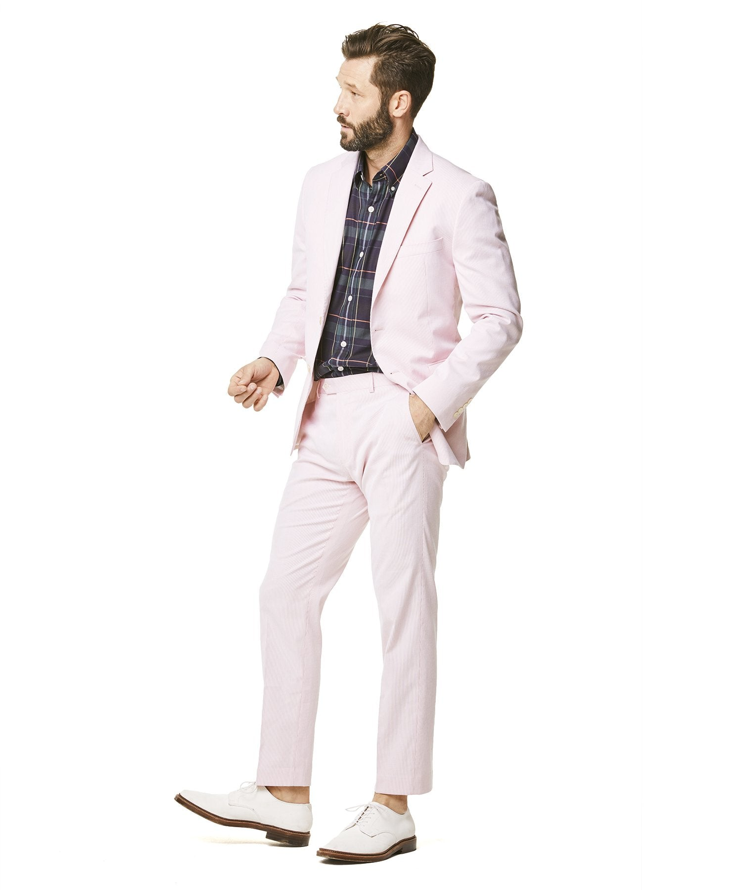 Todd Snyder White Label Fine Corded Cotton Stripe Sutton Suit in Pink