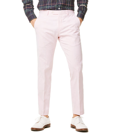 Fine Corded Cotton Stripe Sutton Suit Trouser in Pink