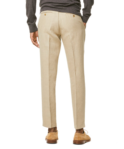 Linen Sutton Suit Trouser in Beige