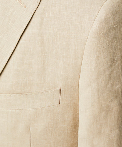 Linen Sutton Suit Jacket in Beige