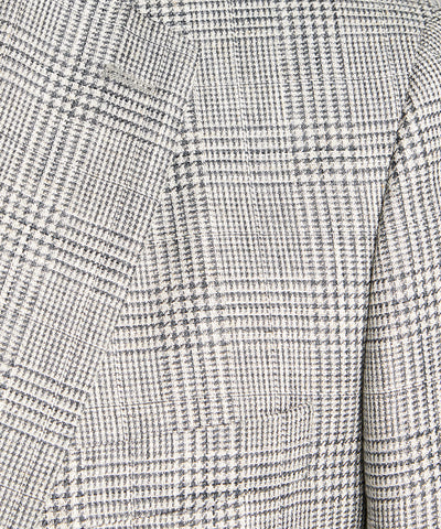 Sutton Linen Glenplaid Sportcoat in Grey