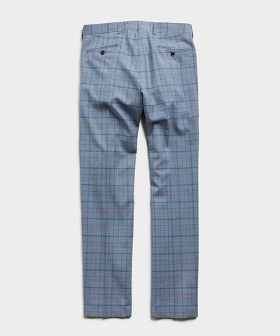 Sutton Wool Suit Trouser in Blue Check