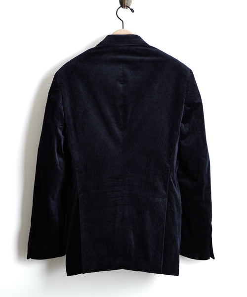 Made in USA Black Label Wide Wale Cord Suit Jacket in Navy