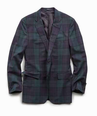 Italian Wool Blackwatch Suit Jacket