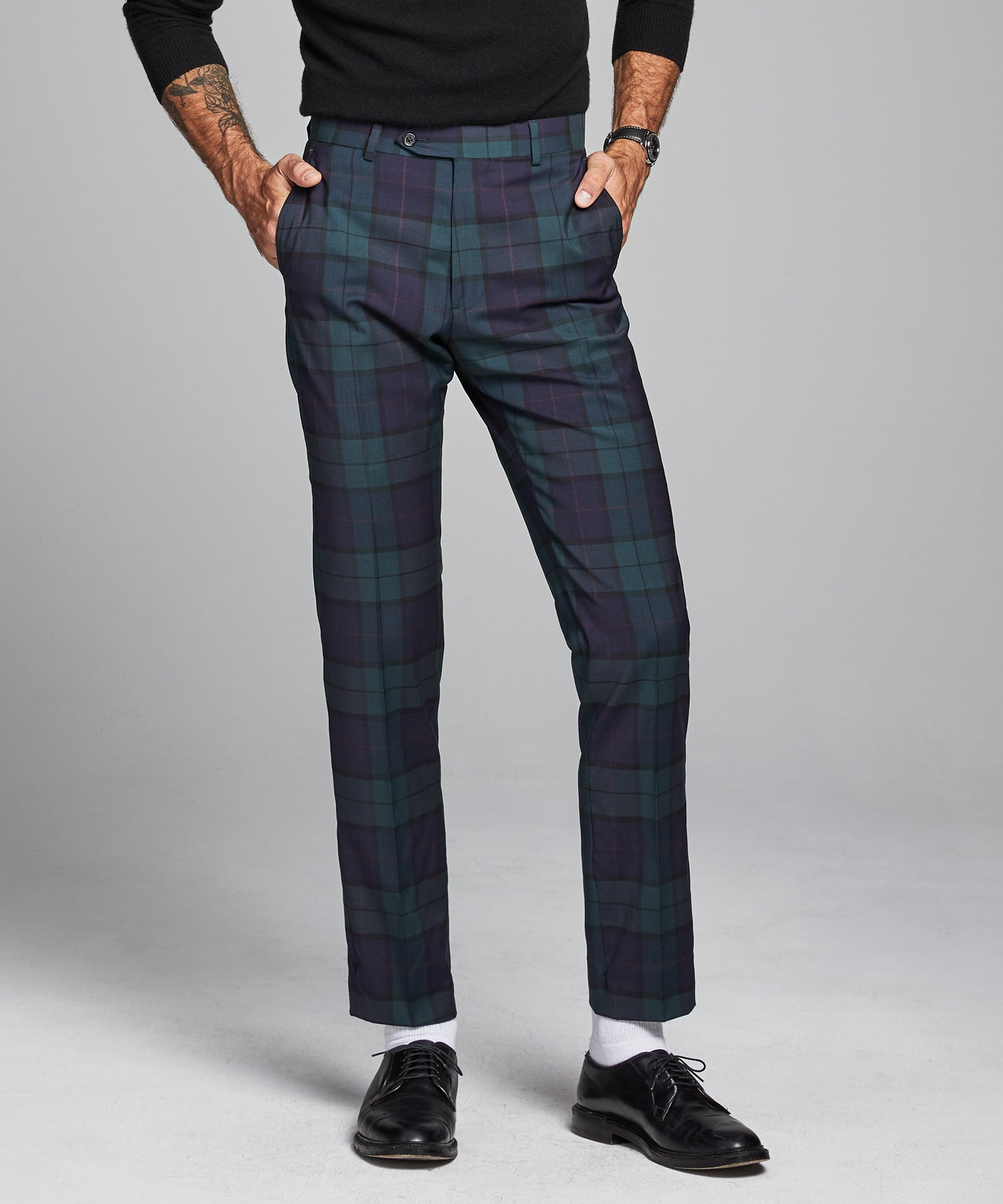 Italian Wool Blackwatch Suit Pant