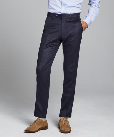 Italian Cashmere Sutton Suit Trouser in Navy