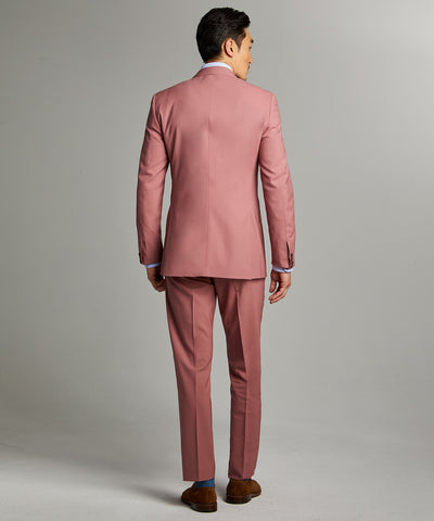 Sutton Wool Gabardine Suit Jacket in Mauve