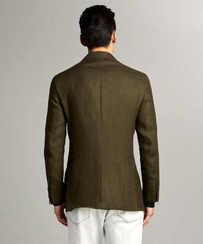 Sutton Linen Sport Coat in Olive