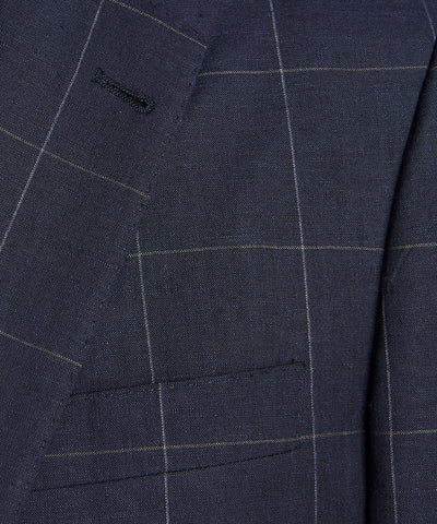 Sutton Windowpane Sport Coat in Navy