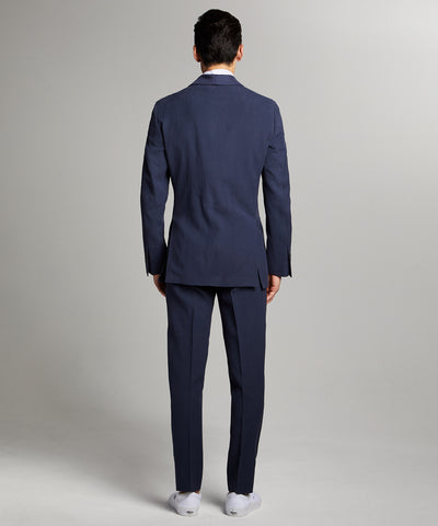 Sutton Shawl Collar Tuxedo Jacket in Navy Italian Linen
